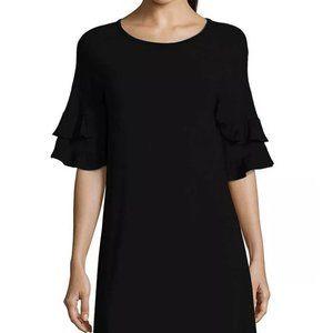 NWT John Paul Richard Double Ruffle Sleeve Dress M